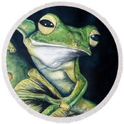 Boreal Flyer Tree Frog Round Beach Towel