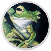 Boreal Flyer Tree Frog Round Beach Towel