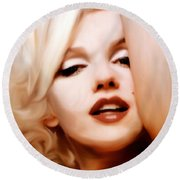Born Blonde - Or Was She? Round Beach Towel