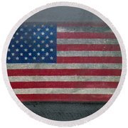 Born In The Usa Round Beach Towel