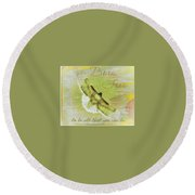 Born To Be Free Round Beach Towel