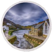Boscastle Harbour Round Beach Towel