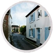 Bosham Hight Street West Sussex Round Beach Towel