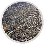Boston From Above Round Beach Towel