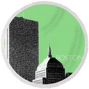 Boston Hancock Tower - Sage Round Beach Towel
