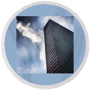 Boston Monolith Round Beach Towel