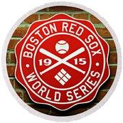 Boston Red Sox 1915 World Champions Round Beach Towel by Stephen Stookey