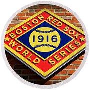 Boston Red Sox 1916 World Champions Round Beach Towel