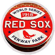 Boston Red Sox World Series Champions 1918 Round Beach Towel