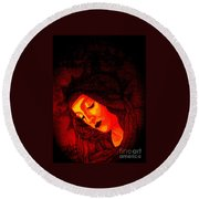 Botticelli Madonna In The Light Round Beach Towel