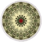 Bottle Brush Kaleidoscope Round Beach Towel