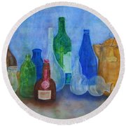 Bottles Collection Round Beach Towel