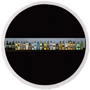 Bottles... Round Beach Towel