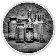 Bottles Round Beach Towel
