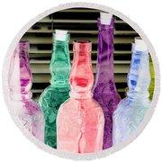 Bottles Up - Photopower 295 Round Beach Towel