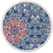 Bottom Of The Glass Round Beach Towel by Jean Noren