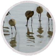 Shorebirds 1 Round Beach Towel