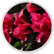Bougainvillea Round Beach Towel