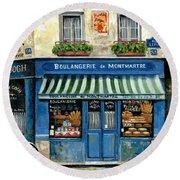 Boulangerie De Montmartre Round Beach Towel