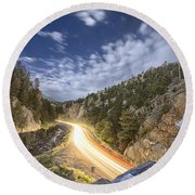 Boulder Canyon Dream Round Beach Towel