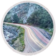 Boulder Canyon Drive And Commute Round Beach Towel