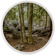 Boulder Woods Round Beach Towel