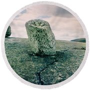Boulders Along The Gertrudes Nose Round Beach Towel