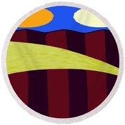 Bouncy Sunshine Round Beach Towel by Patrick J Murphy