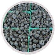 Bounty Of Blueberries Round Beach Towel