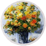 Bouquet D'estate 035 Round Beach Towel