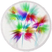Bouquet In The Sun Abstract Round Beach Towel