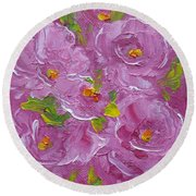 Bouquet Round Beach Towel