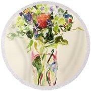 Bouquet  Round Beach Towel