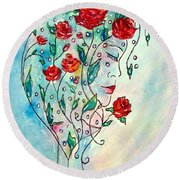 Bouquet Of Love Round Beach Towel