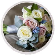 Bouquet Of Spring Flowers Round Beach Towel