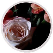 Bouquet With Rose Round Beach Towel