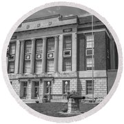 Bourbon County Courthouse 3 Round Beach Towel