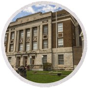 Bourbon County Courthouse 5 Round Beach Towel