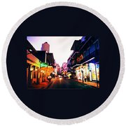 Bourbon Street Early Evening Round Beach Towel