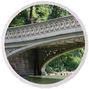 Bow Bridge Texture - Nyc Round Beach Towel