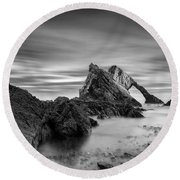 Bow Fiddle Rock 1 Round Beach Towel by Dave Bowman
