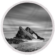 Bow Fiddle Rock 2 Round Beach Towel by Dave Bowman