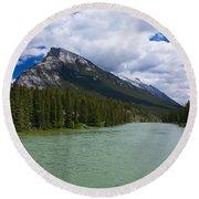 Bow River - Banff Round Beach Towel