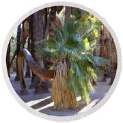 Bowing Palm Round Beach Towel