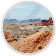 Bowl Of Fire  Round Beach Towel