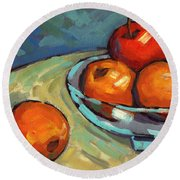Bowl Of Fruit 2 Round Beach Towel