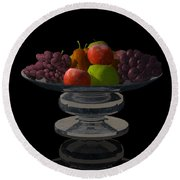 Bowl Of Fruit... Round Beach Towel