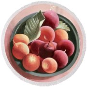 Bowl Of Fruit Round Beach Towel by Tomar Levine