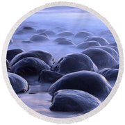 Bowling Ball Beach California Round Beach Towel