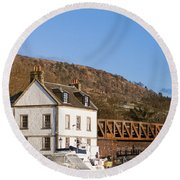 Bowling Harbour House Round Beach Towel